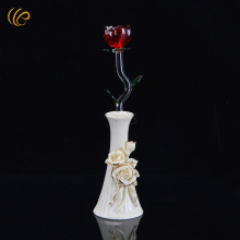 New Arrivals Valentines Day Activities Red Crystal Rose Hot Sale Sympathy Bouquet Unique Rose Flower Store Home Decoration