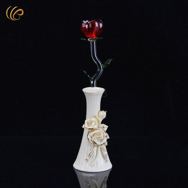 Neuheiten Valentinstag Aktivitäten Roter Kristall Rose Heißer ...