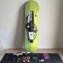 Complete Skateboard Set Plus Pro Deck Truck Wheels & Bearings with Skateborad Accessories(China)
