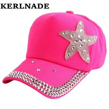 promotion cheap 2016 new fashion star starfish style children snapback beauty baseball cap outdoor play kid boy girl summer hats(China)