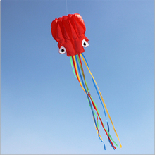 Software Octopus Kite Flying Easy Portable 3D Nylon Kites Octopus 5.5m Colorful Vlieger Aquilone Travel Waterproof Toy Children