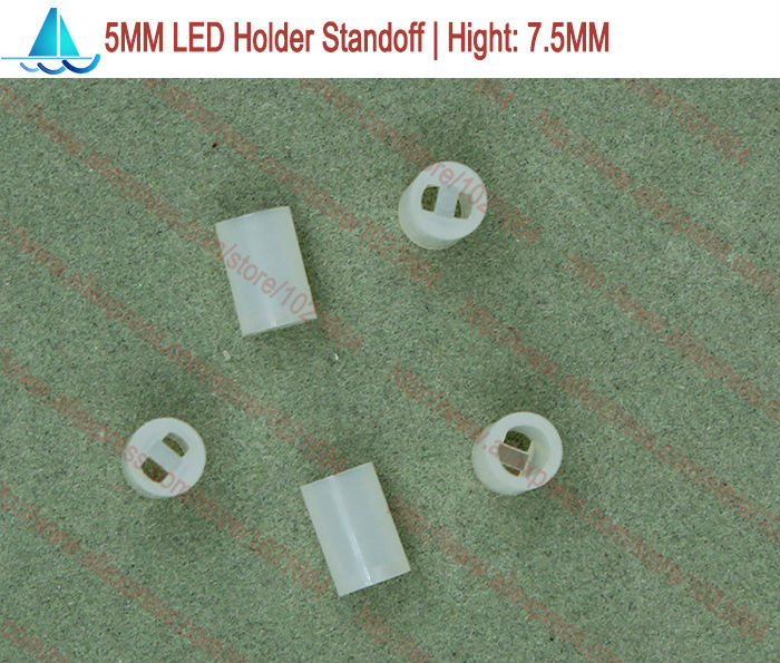 200pcs/lot  5MM LED Lamp Holder Hight:7.5MM Light Emitting Diode Spacer Support Standoffs(China)