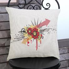 New Design Pattern Printing Soft Short Plush Decorative Pillow Home Sofa Office Chair Seat Cushion Factory Direct Sales
