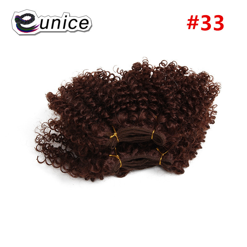 synthetic weaving 8INCH Jerry curly Braid ombre braiding hair weft extentions  (1)