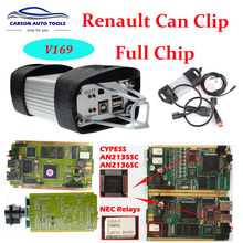 2017 Renault Can Clip V169 /V170/v171 With Full Gold Chip OBD2 Auto Diagnostic Interface CYPRESS AN2131QC PCB DHL free(China)
