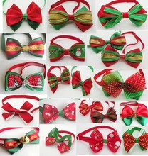 30 Pcs/Lot Big Sale High fashion Handmade Christmas Dog Bow Tie Dogs Festival Tie Pet Accessories Wholesale Mix Style Y139(China)
