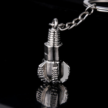 5pcs Keychain!Fashion novelty Zinc Alloy metal drill pipe drill bit keychain car keyring creative key finder holder Friends gift(China)