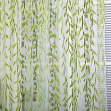 Chic Room Willow Pattern Voile Window Curtain Floral Print Sheer Panel Drapes Scarfs Curtain(China)