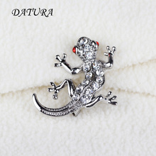 Europe and the United States jewelry fashion Cut Crystal House lizard  Leopard exaggerated jewelry Brooch Pins For Women
