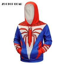 Hot Spiderman 3D Hoodies Men Brand Sweatshirts Printed Winter Autumn Pullover Fashion Novelty Tracksuit Hooded Jackets Male Coat(China)