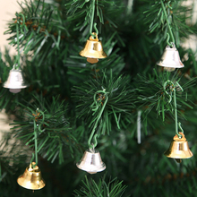 10Pcs/lot DIY Christmas tree bells XMAS Metal Bells Small Bell Jewelry Ornaments Christmas Decoration Pendants(China)