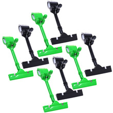 8pcs POP Adjustable Plastic Clip-on Style Merchandise Sign Display Clip Holder (Black&Green)