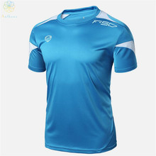 Anthena 2016 New Arrival Men Soccer Jerseys Running T-Shirt Summer Tops Slim Fit Sport Shirt Fitness Gym Quick Dry Wholesale(China)