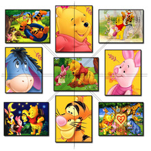5D Diamond Mosaic Diamond Painting Winnie Pooh and Friends Cross Stitch Kit Diamonds Embroidery Square Drill Home Decoration