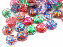 40pcs 12mm New Fashion Mix and Mix color Flat Back Resin Cabochons Cameo Jewelry Accessories Wholesale Supplies(China)