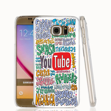 22500 Youtubers Collageblack cell phone case cover for Samsung Galaxy S7 edge PLUS S6 S5 S4 S3 MINI