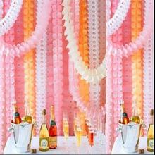 Four Leaf Clover Colorful Wedding Christening Birthday Party Hanging Flower Paper Garland Decorations 3.6M