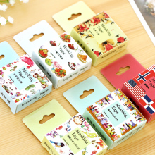 1 PCS 24 Style Size 15mm*10m DIY Yellow Bunny Washi Tapes Masking Tape Cartoon Tapes School Supplies Material Escolar