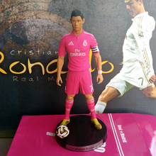"Free Shipping Soccer 7# Cristiano ronaldo(RM) 2.5"" Action figure Doll Toy Figure 18cm PVC puppet home decor Statues(China)"