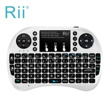 Brand New German Keyboard Rii mini i8+ 2.4G Wireless Keyboard Touchpad mouse Backlit Combo Portable Mini PC Teclado for Tablet(China)