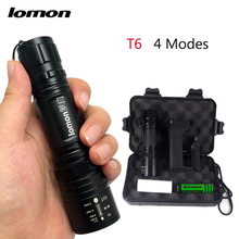 LOMON 1000 Lumens Tactical Flashlights Torches powerful led flashlight T6 Lighting Lamp 18650 10W Powerful bike light wholesale