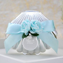Creative European Candy Box Lovely Shell Design Wedding Gift Box Chocolate Holder Party Supplies 12pcs/lot SH425