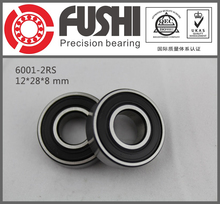 6001-2RS Bearing ABEC-5 (10PCS) 12x28x8 mm Sealed Deep Groove 6001 2RS Ball Bearings 6001RS 180101 RS