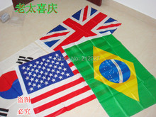 Free Shipping & New Design UK National Fashion Flag Polyester Stripe Flags Fit Decoration 5pcs/lot(China)