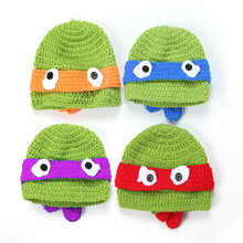 baby boy girl photography props Baby Cute Sea Turtle Cap Knit Hat Costume Photography Prop kids hat baby bonnet    HT68