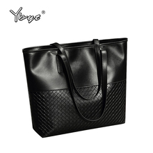 YBYT brand 2017 new PU leather women casual large totes diamond lattice simple shoulder bag hotsale female pouch ladies handbags(China)
