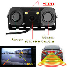 3 in1 Parking Camera Sensors Black Sensors Reversing Radar Car Rearview Rear View SONY CCD Camera Reversing Camera Waterproof