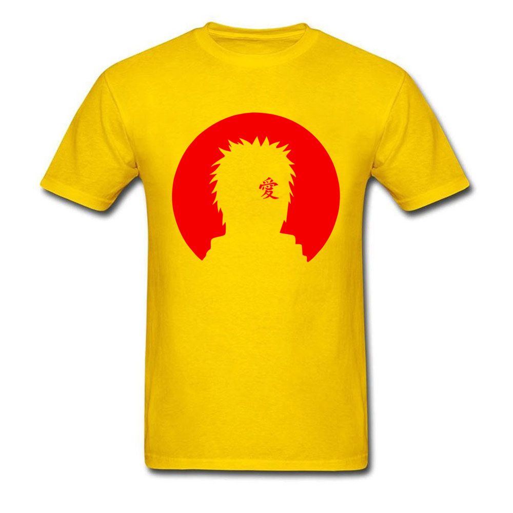 Camisa Gaara Basic Tshirts New Arrival Summer/Autumn Short Sleeve Crew Neck Tops T Shirt 100% Cotton Fabric Men's Geek Tee-Shirt Gaara Basic yellow