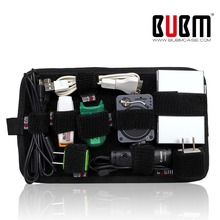 BUBM digital data cable camera case Organizer System Kit USB Flash Drive Carrying Protect case(China)