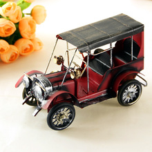 Home decoration retro nostalgic metal classic car model ornaments Crafts for home cafe bar hot