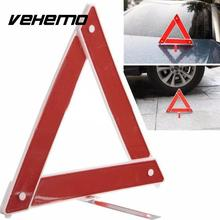 Vehemo Car Kits Breakdown Warning Board Reflective Foldable Triangle Road Sign(China)