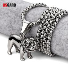 Top Quality Stainless Steel Pug Pendant Necklace Chain Collar Bulldog Pendant Hiphop Chains For Men Bling Rock Jewelry Gifts