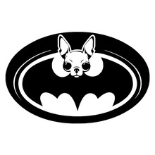 12.7*8.1CM CHIHUAHUA Batman Logo Dog Creative Car Stickers Classic Funny Window Decorative Decals C6-1457