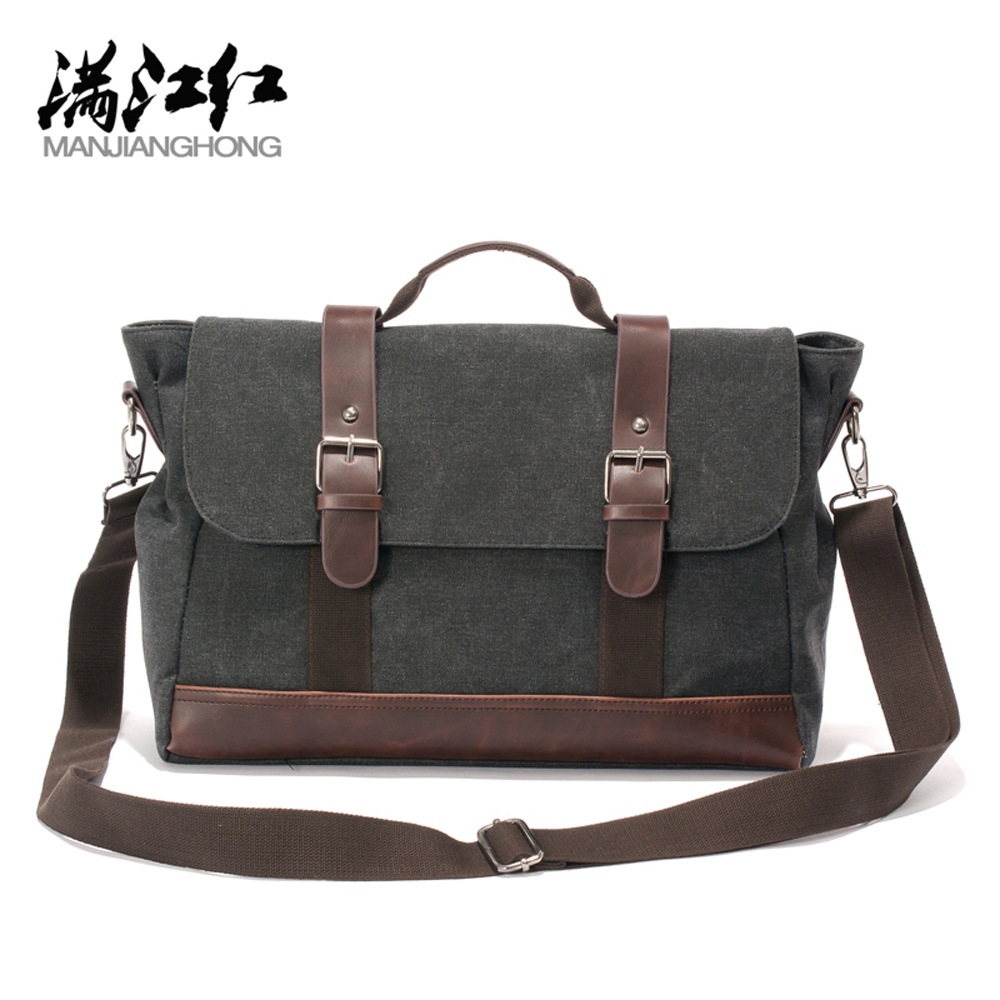 Canvas Men Messenger Bags Vintage Black Business Men Shoulder Crossbody Travel Bag Casual High Quality Briefcase free shipping<br><br>Aliexpress