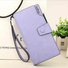 2017 Women Wallets New Fashion Trends Pumping Multi-card Position Two Fold Wallet Lady Long Zipper Hasp Clutch Purse Card Holder(China)