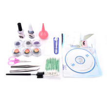 1Set High Quality Professional False Eyelash lash Extensions Kit with Case Waterproof Odorless(China)