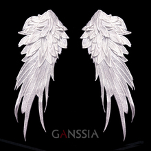1 pair Stylish embroidered angel wings fabric patch Shoulder decorations Venise LaceappliqueDIY halloween costume(ss-7306)