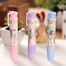 New Fashion Cute Students Pen Shaped Eraser Rubber Stationery Kid Gift Toy For Girls