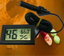 room indoor digital lcd thermometer temperature meter Electronic Wet Humidity Hygrometer with External sensor high quality(China)