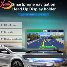 Universal Car HUD Holder Head Up Display GPS Navigator Phone Smartphone Projector Reflection Board Panel  H6