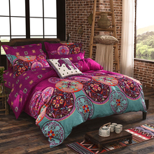 Bohemian Mandala Duvet Cover with Quilt Cover Bed Sheet Pillow Case Quilt Cover Bedding Set Full King Queen Twin Size
