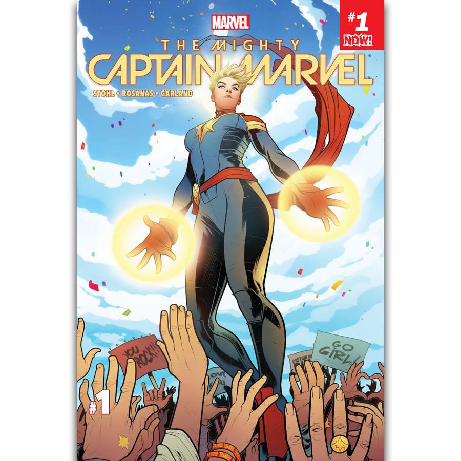 S1350 Captain Marvel Marvel Comic Woman Superhero