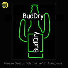Bud Dry Cactus Beer Neon Sign Neon Bulb Sign Glass Tube Handcrafted Decorate Windows neon Art lights personalized Custom lamps(China)