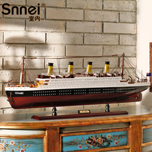 80CM-100CM Big Size Titanic Ship Model Toys Solid wood ship model kit with ELD lights holiday gifts Christmas gifts(China)