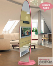 Free Shipping Fashion landing pier glass Oval dresser mirror not easy to broken acrylic full-length mirror(China)