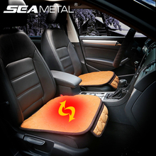 12V Car Seat Heater Pad Covers Set Carbon Fiber Heating Pads Cover Universal Car Keep Warm Home Winter Interior Accessories